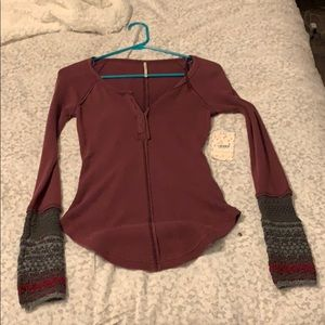 NWT Free People Long Sleeve XS